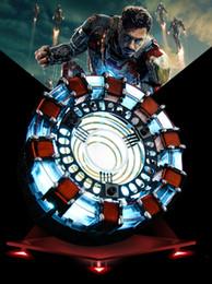 Canada [Drôle] 1: 1 échelle Iron Man Arc Reactor Une génération de modèle de cœur d'homme de fer incandescent avec LED Action Figure Figure Toy Box Offre