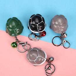 brinquedos de bugigangas Desconto New Bonito Tartaruga Cabeça Chaveiro Criativo Engraçado Ventilação Pressionando Trinket Cabeça Tartaruga Brinquedo Verde Anel Chave Saco Pingente