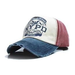 berretti da baseball vintage per le donne Sconti Berretti da baseball donna berretto da baseball Snapback Lettera stampato papà cappellino da uomo firmato Strapback Vintage NYPD cappellini da baseball 5 pannelli