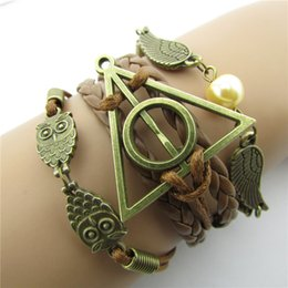 kettenfäden Rabatt 7 Arten Retro Harry Potter Kette Armband Friedenstaube Eule Wachsfaden Mode Armband Kette Kinder Geschenk Festliches Geschenk L217