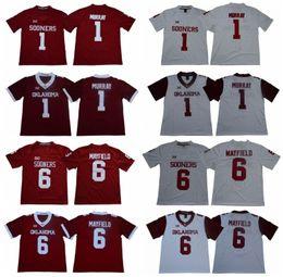 4414ee29 Discount oklahoma football jersey - Mens NCAA Oklahoma Sooners 6 Baker  Mayfield 1 Kyler Murray Stitched