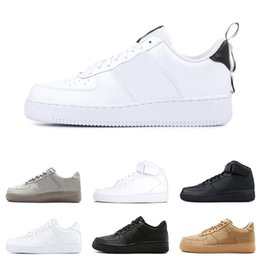 official photos a6a12 5d354 2019 nike air force 1 just do it af1 scarpe da basket per uomo donna dunk  utility bianco nero arancio grano alto basso uomo sneakers sportive sneakers  ...