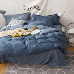 VIPLIEF Textiles para el hogar Nuevo juego de sábanas de algodón de estilo nórdico de cuatro telas Suave y cómodo Transpirable Garantía de alta calidad desde fabricantes