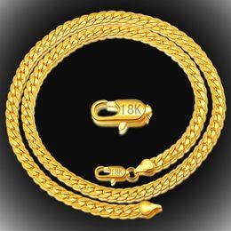 gold gefüllt kubanischen link silber Rabatt 18 Karat vergoldete Ketten Halsketten für Männer Frauen 20 Zoll 5 mm Neckalce 925 Sterling Silber Gliederkette Luxus Schmuck Geschenke Vatertag