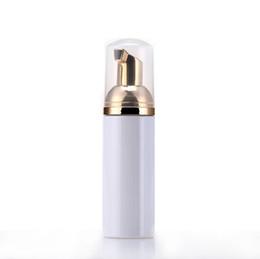 2019 plastikspenderflaschen 50ml Travel Foamer Flaschen Leere Schaumstoffflaschen mit Goldpumpe Handwäsche Seife Mousse Creme Dispenser Sprudelnde Flasche BPA-frei rabatt plastikspenderflaschen