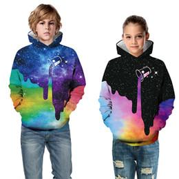 2019 spider man invierno abrigo niños Teen Kids Girl Boy Fleece Print Cartoon Style Galaxy sudadera Pocket Pullover Otoño Invierno Hoodie