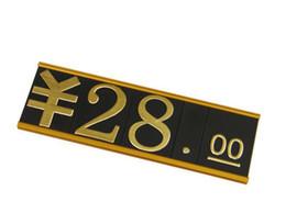 Etichetta numero cubo in alluminio Cornice prezzo cubo oro Mostra gioielli Prezzo Talker Numero Tag Metallo allargato Prezzo piatto striscia dati supplier cube flat da cubo piatto fornitori