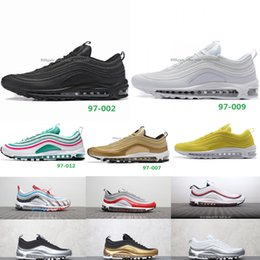 nike air max airmax 97 2018 Chaussures 97 Ultra Laufschuhe Marke Mode Designer Herren 97s UL 17 OG Silber Bullet Air Cushion Trainer Maxes Plus 36 45