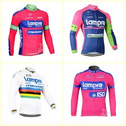 Lampre ciclismo jersey online-LAMPRE Team Cycling Long Sleeves Jersey Autumn quick dry Long Sleeve Cycling Clothing Road Bicycle Sportswear For men B616-3