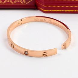 Caixa de pulseira de jade on-line-Jóias encantos do amor Rosa de Ouro Pulseiras NOVO HOT Homens e mulheres ama ama inoxidável pulseira No Box Box