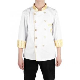 mangas uniforme do hotel Desconto Jaqueta de uniforme do chef de estilo chinês jaqueta de chef restaurante hotel cozinheiro terno casaco de manga longa casaco de serviço uniforme casaco