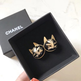 2019 ouro preto brincos de contas brincos Moda Feminina Designer Brincos Seiko criar brincos gato Material Latão Com Brincos novos quentes
