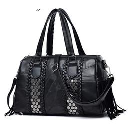 8f358f962ea4b good quality Genuine Leather Big Women Bags Patchwork Sheepskin Woman Shoulder  Bag Ladies Shoulder Bags Female Sequined Handbag