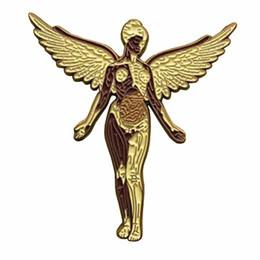 Рок-группа Nirvana в значке музыки в матке Ангел арт-брошь подарок хэви-метал фанаты Гранж декор от