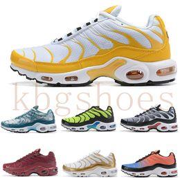 nike TN plus air max airmax Hot 2019 Air Plus Shoes Barato Hombres Tn Plus Zapatos para correr Nuevo diseño Negro Blanco Chaussures Tn QS Rojo Zapatillas Deportivas Zapatillaes desde fabricantes