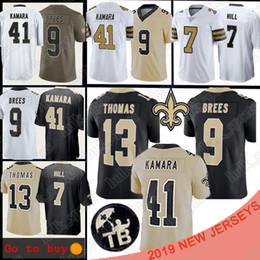 jersey americano nuovo Sconti New Orleans Jersey Saints 9 Drew Brees 13 Michael Thomas 41 Alvin Kamara 7 Taysom Hill 23 Marshon Lattimore maglie da football americano