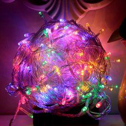 Luci fiabesche di colore online-luce di Natale per le vacanze vendita pazzesca 10m Outdoor 100 stringa di LED multi colore RGB natalizia impermeabile luce del giardino del partito di Natale