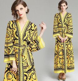 Verano de manga larga mini vestido de la vendimia de las mujeres clásicas retro blusa fiesta en la playa vestidos casuales negro M-XXL desde fabricantes