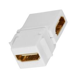 Placa de alta definición online-90 grados en ángulo recto 1080P hembra a hembra HDMI acoplador HD Inserto Keystone Panel de placa de pared Adaptador Conector Jack