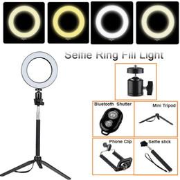 Tycipy 14 cm 20 cm Selfie Ring Light LED Studio Fotografía Foto Cámara Anillo de luz con trípode para teléfono inteligente Maquillaje Youtube desde fabricantes