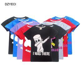 Música camiseta dj on-line-Marshmello camiseta para menino grande menina roupas de verão dj música crianças impressão de algodão t-shirt do miúdo dos desenhos animados tee top roupas