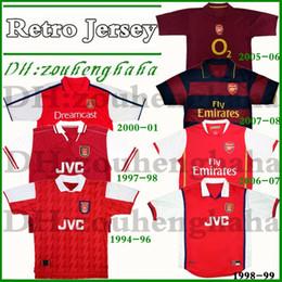 Camisa de 1994 on-line-1994 96 artilheiro Bergkamp Retro camisa de futebol 97 98 99 Wright Henry v.Persie 00 01 05 06 07 08 antiga camisa de futebol