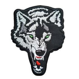Argentina Animal salvaje feroz lobo bordado parches para la ropa de costura de hierro en el parche DIY Badge Jeans prenda de vestir bolsa de la chaqueta decoración Suministro