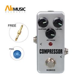Effektpedalkompressor online-KOKKO FCP2 Mini-Kompressor-Pedal, tragbares Gitarren-Effektpedal mit goldenem Gitarrenanschluss