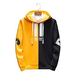 Trendy Colorblock Hoodie Youth Red Cotton Autumn Hoodie Harajuku Streetwear  Hip Hop Crewneck sudaderas para hombre Men Coat WY70 4875503fb