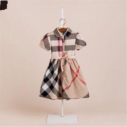 Fledermausrock online-Sommer Mädchen Baumwolle Kleid Baby Kinder Prinzessin Lattice Rock A Doll Rock