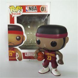 Regalos de fans online-Funko pop Estrella de baloncesto James Kobe Stephen Curry Kyrie Irving John Wall Figura de acción de colección Modelo de juguete para los fanáticos regalos