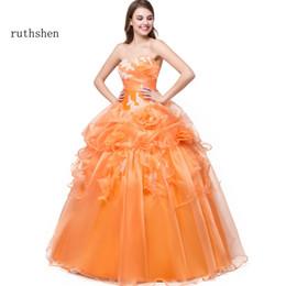 1117f1e75 Venta al por mayor Vestidos 15 Anos Quinceanera 2018 Dulce 16 vestidos  cariño apliques Ruffles 100% Real Photo Quinceanera barata