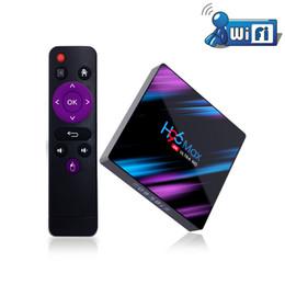 лучший андроид смарт-теле коробка Скидка 2019 Лучший H96 MAX TV Box Android 9.0 Встроенный в 2.4G / 5G / BT 4.0 H.265 4K Youtube Netflix Google Play 2 / 4GB 16 / 32GB Smart TV H96MAX
