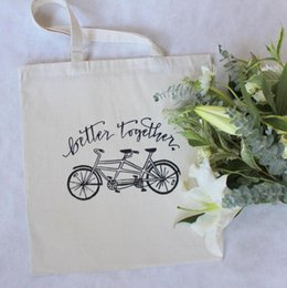 Косметика для гостиниц онлайн-Тандем Велосипед Лучше вместе Свадебная приветственная сумка Отель Фавор Подарочные пакеты Сумка для путешествий Косметическая сумка на молнии