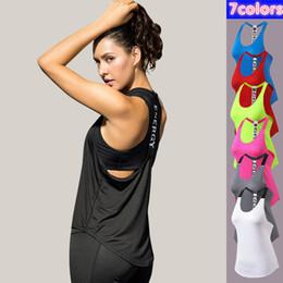 S-2XL Фитнес Женщины Спортивная Рубашка Дамы Рубашки Йоги Бег Фитнес Quick Dry T-back Назад Слинг Свободные Тренировки Yoga Спортивная Одежда от Поставщики дешевые джемперы
