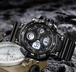 50mm echtes wasserdichtes elektronisches Uhr-Art- und Weisemultifunktionsnachtlicht der Männer im Freiensport-Kursteilnehmer-Modedesigner-Uhren geben Schiff frei von Fabrikanten