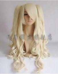 Парик для волос lolita ponytail онлайн-Wig Lolita Cosplay Wig Pale Blonde Lolita Hair High Temperature Wire +Clip Ponytail
