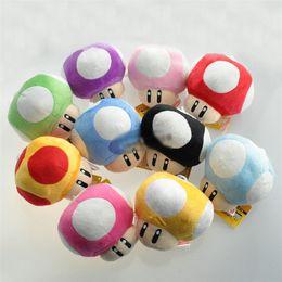 Anime di funghi online-7 CM Super Mario Bros Luigi Yoshi Toad Funghi Funghi portachiavi peluche Anime Action Figures Giocattoli per bambini regali brithday