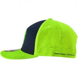 Motocross elmetto giallo online-2019 Top Giallo Fluo Motociclismo Snapback berretto moto gp di alta qualità cappello di motocross casco