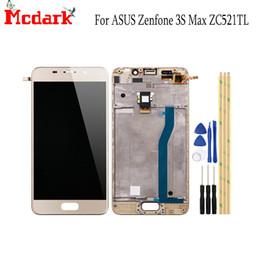 2019 asus telas lcd Mcdark 5.2 polegada para asus zenfone 3s max zc521tl display lcd e tela sensível ao toque com completa frente da caixa chassis + ferramentas asus telas lcd barato