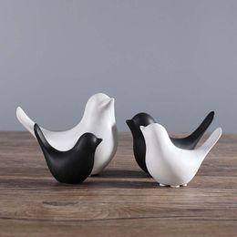 2019 telefono ufficio d'epoca Nordico moderno minimalista stile scandinavo ornamenti per uccelli in ceramica decorazioni per la casa artigianato figurine uccelli in ceramica regali di nozze