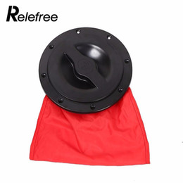 boat decking Promo Codes - Relefree Hot 6 inch Top Quality Kayak Boat Marine Cover Deck Plate With Storage Bag Black Rotate for Kayak Boat Accessories