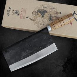 marques de couteaux chinois Promotion Livraison Gratuite Deng Couteaux À La Main Professionnel Chef Couteau De Cuisine Tranche Viande Légumes Multifonctionnel Couteaux Forgé Couteaux
