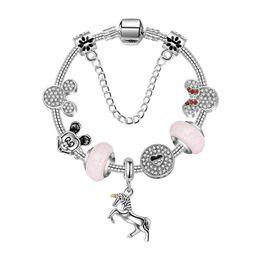 9d54d476a Discount pandora bracelets - 17-21CM New Unicorn bracelet pandora style  silver bracelets Animation sweet