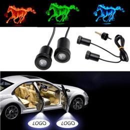 mandos a distancia volvo Rebajas 4 unids para Ford Gen LED naranja verde azul proyector insignia fantasma sombra luz vehículo puerta de coche LED Logo luz DIY