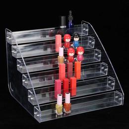 nail display stands Desconto Durável Destacável Prego Polonês Maquiagem Acrílico Display Stand Rack Titular Organizador Seis Camadas de Jóias Rack de Exibição para jóias