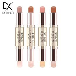Drxiner Double-end Highlighter Stick V-face Countour Kit макияж подсветка мерцание макияж бронзатор маркер корректор блеск от Поставщики делать палочки
