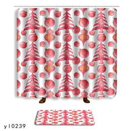 combinación de ducha Rebajas Cuarto de baño moderno Cortina de ducha Estera del piso Combinación Conjunto Geométrico Impresión abstracta Cortina de ducha Estera del piso de secado rápido 180 * 180 CM