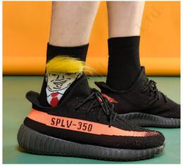 Chausettes Président Donald Trump drôle Imprimer adulte Crew Mid Sock Avec 3D faux cheveux sport de Noël Chaussures de basket chaussettes ventes