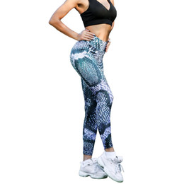 bbfb214a8733 Ladies Printed Yoga Pants High Waisted Leggings for Fitness Gym Workout  Athletic Sexy Booty Tights Sports seamless Leggings S-XL